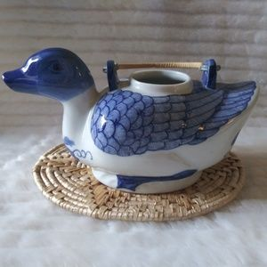 Handpainted Duck Teapot